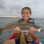 Kid kayak fishing in South FLorida